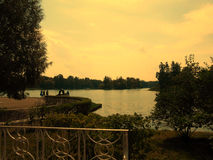 Catherine Park van Tsarskoye Selo Stock Foto