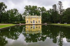 Catherine park w Tsarskoye Selo - Pushkin blisko St Petersburg zdjęcie stock