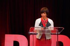 Catherine Pugh Mayor Of Baltimore no evento americano do VERMELHO da fundação do coração imagem de stock