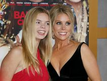 Catherine Rose Young and Cheryl Hines. At the Los Angeles premiere of `A Bad Moms Christmas` held at the Regency Village Theatre in Westwood, USA on October 30 Stock Photos