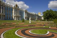 Catherine slott i Tsarskoye Selo, Ryssland Royaltyfri Bild