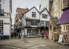Catherine Street, Exeter, Devon, Großbritannien Lizenzfreie Stockfotos