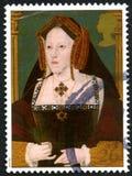 Catherine van Aragon het UK Postzegel stock afbeelding