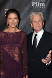 Catherine Zeta-Jones, Four Seasons, Kirk Douglas, Michael Douglas. Catherine Zeta-Jones, Michael Douglas  at the SBIFF 2011 Kirk Douglas Award honoring Michael Royalty Free Stock Photo