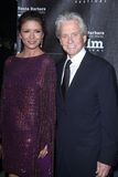 Catherine Zeta-Jones, Kirk Douglas, Michael Douglas Stockbild