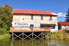 Cathlamet Tavern. Tavern on the Columbia River in Cathlamet, Washington Stock Photography