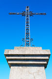 catholic     abstract   cross in italy   background Stock Photo