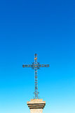 catholic     abstract   cross in italy   sky background Stock Images