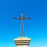 Catholic  abstract sacred  cross in italy europe and the sky ba Stock Images