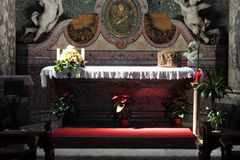 Catholic altar in a church Royalty Free Stock Images
