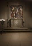Catholic altar. Altar in the Catholic Church Royalty Free Stock Image