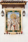 Catholic Altar in public street Stock Image