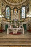 Catholic altar of San Sebastian church Stock Photography
