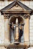Catholic basilica. Medieval sculpture. Dubrovnik. Croatia. Royalty Free Stock Photography