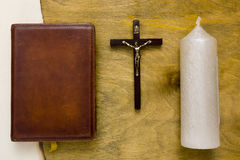 Catholic Bible bound in leather Royalty Free Stock Image