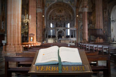 Catholic bible in church - religion Royalty Free Stock Photos