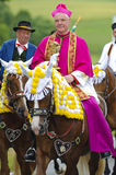 Catholic bishop on horse Royalty Free Stock Images