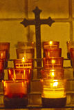 Catholic Candles Burning Stock Images