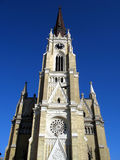 Catholic cathedral. Roman catholic neogothic cathedral in Novi Sad, Serbia stock photos