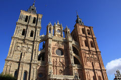 Catholic cathedral in Astorga, Spain Stock Photo