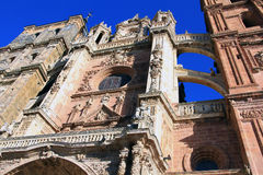 Catholic cathedral in Astorga, Spain Royalty Free Stock Image