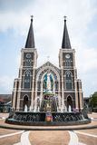 The Catholic cathedral in Chantaburi, Thailand. The Catholic cathedral with blue sky in Chantaburi, Thailand Stock Images