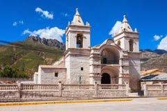 Catholic cathedral, Chivay royalty free stock photography