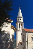 Catholic Cathedral Church of St. John in Budva. Montenegro Stock Images