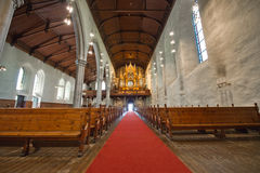 Catholic cathedral in the city of Bergen Royalty Free Stock Photos