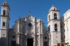 Cathedral San Cristobal de Habana, Havanna, Cuba royalty free stock images