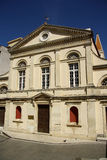 Catholic cathedral in Corfu Town (Greece). Facade of the catholic cathedral of Saint Jacob and Saint Christopher in Corfu Town (Greece). Built in 1588, heavily Stock Photo