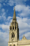 Catholic cathedral gotic tower Stock Photo