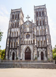 Catholic Cathedral, Hanoi, Vietnam. Catholic Cathedral (Nha tho lon Ha noi), Hanoi, Vietnam stock photography
