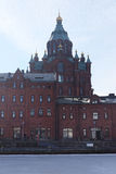 Catholic cathedral in Helsinki Stock Photos