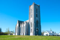 Catholic cathedral of Iceland, Reykjavik. Royalty Free Stock Photos