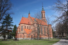 Catholic Cathedral In The City Center. Royalty Free Stock Images