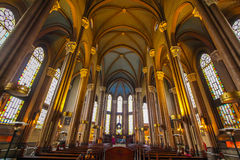 Catholic cathedral inside view Stock Photos