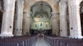 Catholic Cathedral Interior in Old Havana,Cuba stock video