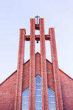 Catholic cathedral. Modern catholic cathedral over blue sky Stock Photography