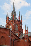 Catholic cathedral in Moscow. Fragment of Cathedral of the Immaculate Conception in Moscow, Russia Stock Images