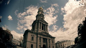 The Catholic cathedral in the old town (time stock video