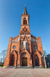 Catholic Cathedral on the Pastavy town. Royalty Free Stock Photography