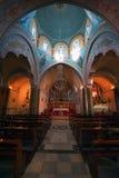 Catholic cathedral of Saint John The Baptist in Fira of Santorini royalty free stock image