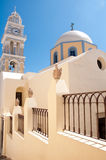 Catholic cathedral in Santorini Stock Photography
