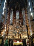 In the Catholic cathedral Stock Photo