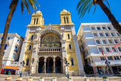 Catholic cathedral St. Vincent de Paul in Tunis. Tunisia, North Stock Photos