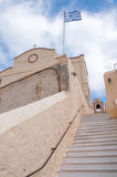 Catholic Cathedral in Syros Stock Photo