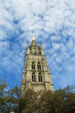 Catholic cathedral tower Stock Images