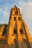 Catholic cathedral tower at sunset Royalty Free Stock Photography