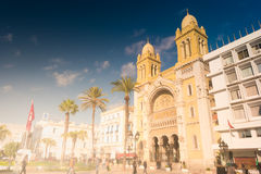 The catholic Cathedral in Tunisia, Tunis. Stock Photography